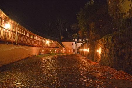 Rochsburg im Fackelschein