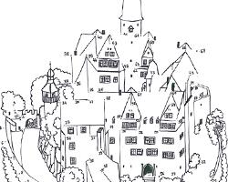 Zahlen verbinden Schloss Rochsburg